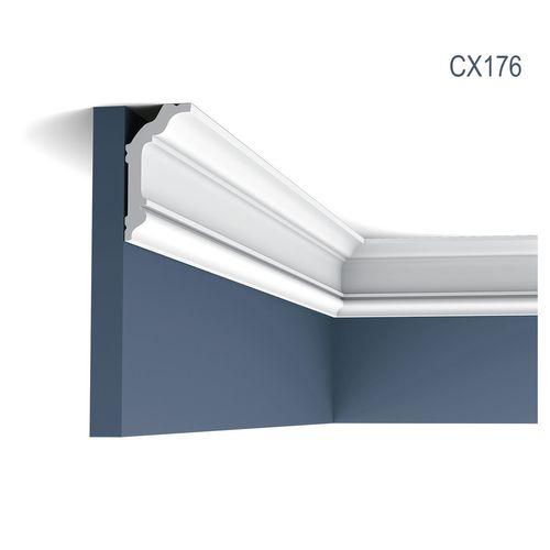 Eckleiste Orac Decor CX176 AXXENT Stuckleiste Zierleiste Zeitloses Klassisches Design weiß 2m – Bild 1