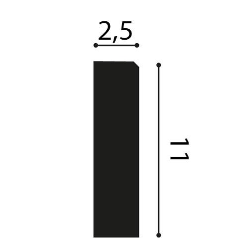 Türumrandung Orac Decor D340 AXXENT Sockelleiste Wandleiste Zeitloses Klassisches Design weiß 2m – Bild 2