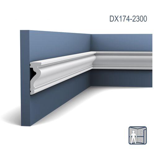 Deuromlijsting Orac Decor DX174-2300 LUXXUS Plint Wandlijst tijdeloos klassieke stijl wit 2,3m – Bild 1