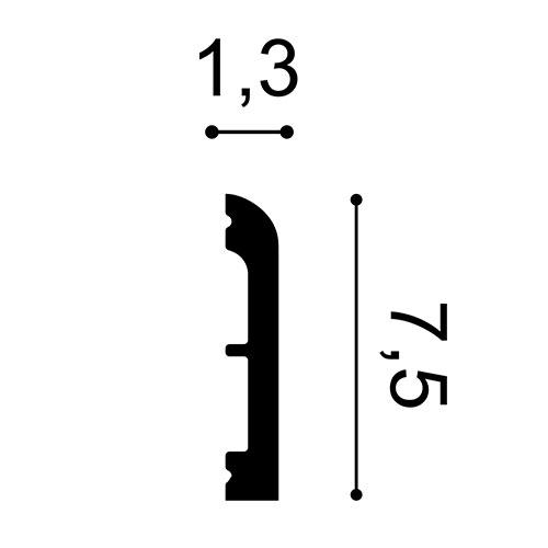 Incorniciatura porte Orac Decor DX183-2300 AXXENT CASCADE contorno porte battiscopa design moderno bianco 2,3m – Bild 2