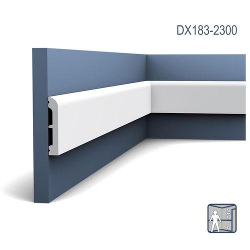 Deuromlijsting Orac Decor DX183-2300 AXXENT CASCADE Plint Wandlijst modern design wit 2,3m – Bild 1