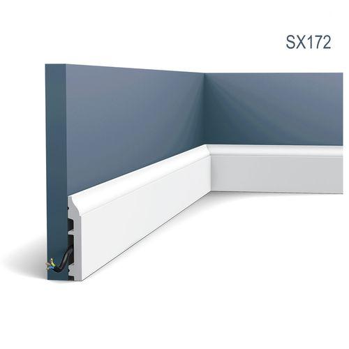 Battiscopa Orac Decor SX172 AXXENT modanatura tipo stucco design moderno bianco 2m – Bild 1