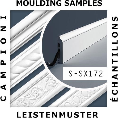 1 PIEZA DE MUESTRA S-SX181 Orac Decor MODERN | MUESTRA Zócalo Moldura decorativa Longitud aprox 10 cm
