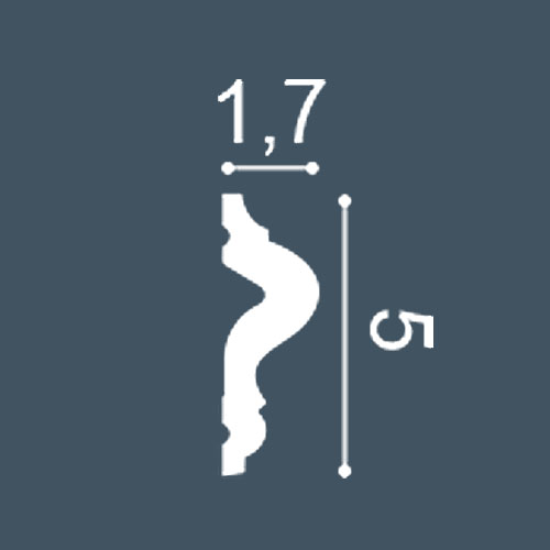 1 PIEZA DE MUESTRA S-SX186 Orac Decor LUXXUS | MUESTRA Zócalo Moldura decorativa Longitud aprox 10 cm – Imagen 4