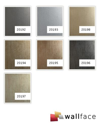 Wandpaneel Metalloptik WallFace 20198 METALLIC USED Champagne AR Wandverkleidung glatt im Used Look und mit metallischen Akzenten selbstklebend abriebfest grau grau-beige 2,6 m2 – Bild 3