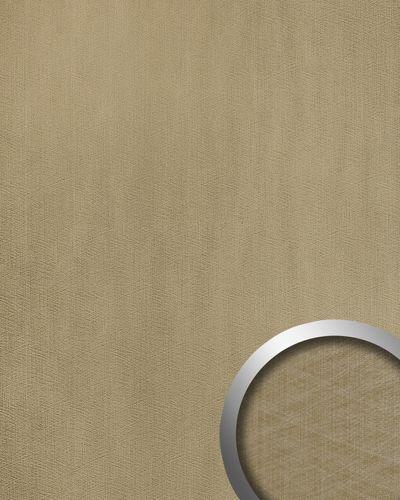 Wandpaneel Metalloptik WallFace 20198 METALLIC USED Champagne AR Wandverkleidung glatt im Used Look und mit metallischen Akzenten selbstklebend abriebfest grau grau-beige 2,6 m2 – Bild 1