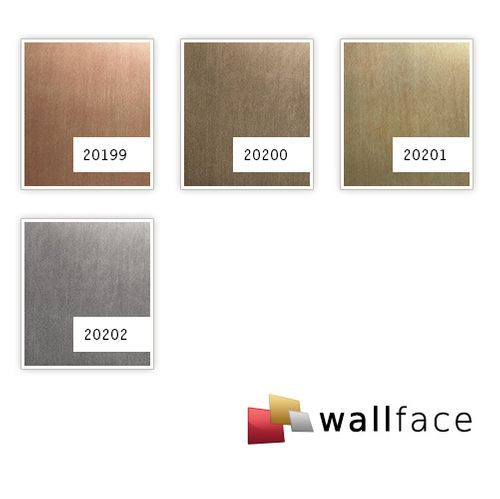 Pannello murale aspetto metallico WallFace 20201 SLIGHTLY USED Gold AR rivestimento murale liscio con used look spazzolato autoadesivo resistente all'abrasione oro beige-marrone 2,6 m2 – Bild 3