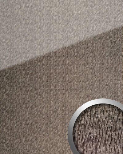 Wandverkleidung 20215 CURVED Silver AR+ Glas-Optik grau silber – Bild 1