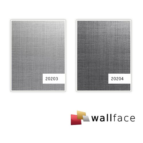 1 PROEFMONSTER S-20204-SA WallFace REFINED METAL TITAN AR Deco Collection | Wandbekleding STAAL in ongeveer A4-formaat – Bild 3