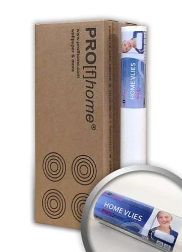 HomeVlies glatte überstreichbare Vliestapete weiß ohne Struktur Glattvlies Renoviervlies Malervlies | 4 Rollen – Bild 1