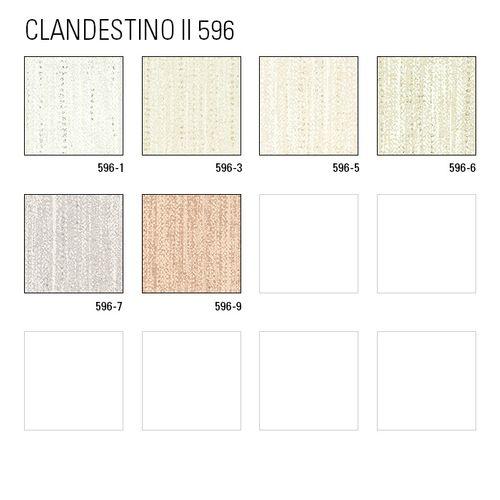 Uni kleuren behang ATLAS CLA-596-5 vliesbehang licht gestructureerd met een gestreept patroon subtiel glinsterende crème parelmoer-goud wit beigegrijs 5,33 m2 – Bild 4