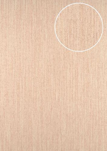 Papier peint unicolor ATLAS CLA-596-9 papier peint intissé légèrement texturé avec un motif rayé subtilement scintillant crème beige-nacré blanc 5,33 m2