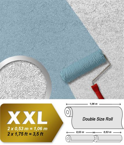 Wall covering non-woven EDEM 333-60 Wallpaper wall paintable XXL creative textured white