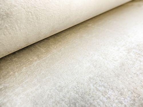 Carta da parati a tinta unita ATLAS CLA-598-1 Carta da parati TNT liscia con il used look scintillante bianco bianco-perla 5,33 m2 – Bild 3