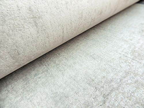 Uni kleuren behang ATLAS CLA-598-2 vliesbehang glad met vogel patroon glanzend zilver parelmoer-grijs grijsbeige 5,33 m2 – Bild 3
