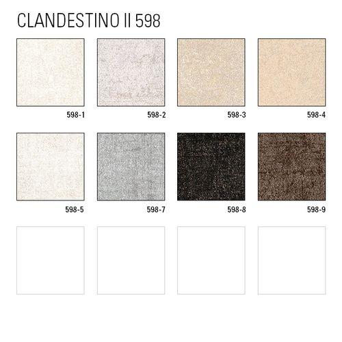 Uni kleuren behang ATLAS CLA-598-2 vliesbehang glad met vogel patroon glanzend zilver parelmoer-grijs grijsbeige 5,33 m2 – Bild 4