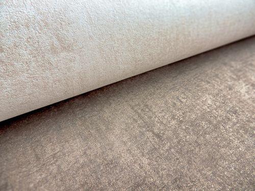 Uni Tapete ATLAS CLA-598-5 Vliestapete glatt im Used Look schimmernd creme perl-gold perl-weiß 5,33 m2 – Bild 3