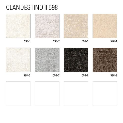 Uni kleuren behang ATLAS CLA-598-5 vliesbehang glad met vogel patroon glanzend crème parelmoer-goud parelwit 5,33 m2 – Bild 4