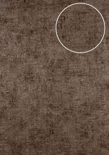 Uni kleuren behang ATLAS CLA-598-9 vliesbehang glad met vogel patroon glanzend bruin bruingrijs 5,33 m2 – Bild 1