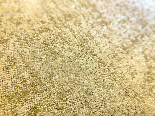 Carta da parati a tinta unita ATLAS CLA-601-1 Carta da parati TNT liscia con il used look opaca marrone oro-perlato beige-perlato 5,33 m2 – Bild 2