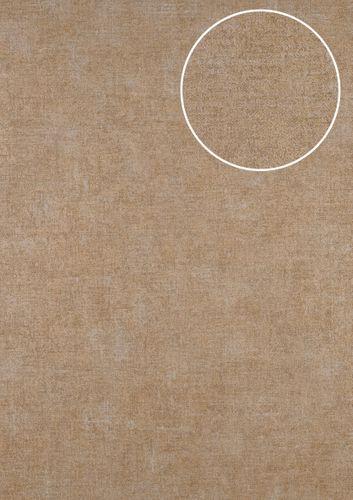 Papel pintado liso ATLAS CLA-601-1 papel pintado no tejido liso de estilo used look mate marrón oro-perlado beige perlado 5,33 m2 – Imagen 1