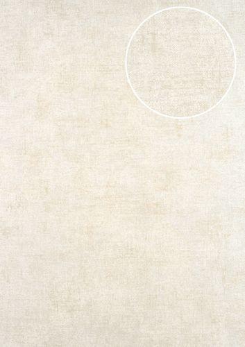 Papel pintado liso ATLAS CLA-601-2 papel pintado no tejido liso de estilo used look mate plata beige-agrisado beige perlado 5,33 m2 – Imagen 1