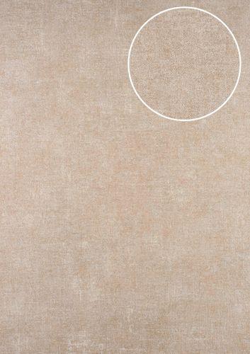 Carta da parati a tinta unita ATLAS CLA-601-5 Carta da parati TNT liscia con il used look opaca beige grigio-beige bianco-perla 5,33 m2 – Bild 1