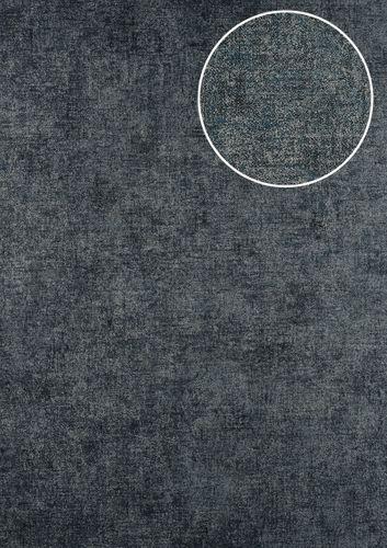 Uni kleuren behang ATLAS CLA-601-8 vliesbehang glad met vogel patroon mat antraciet grijsbruin grijsblauw 5,33 m2 – Bild 1