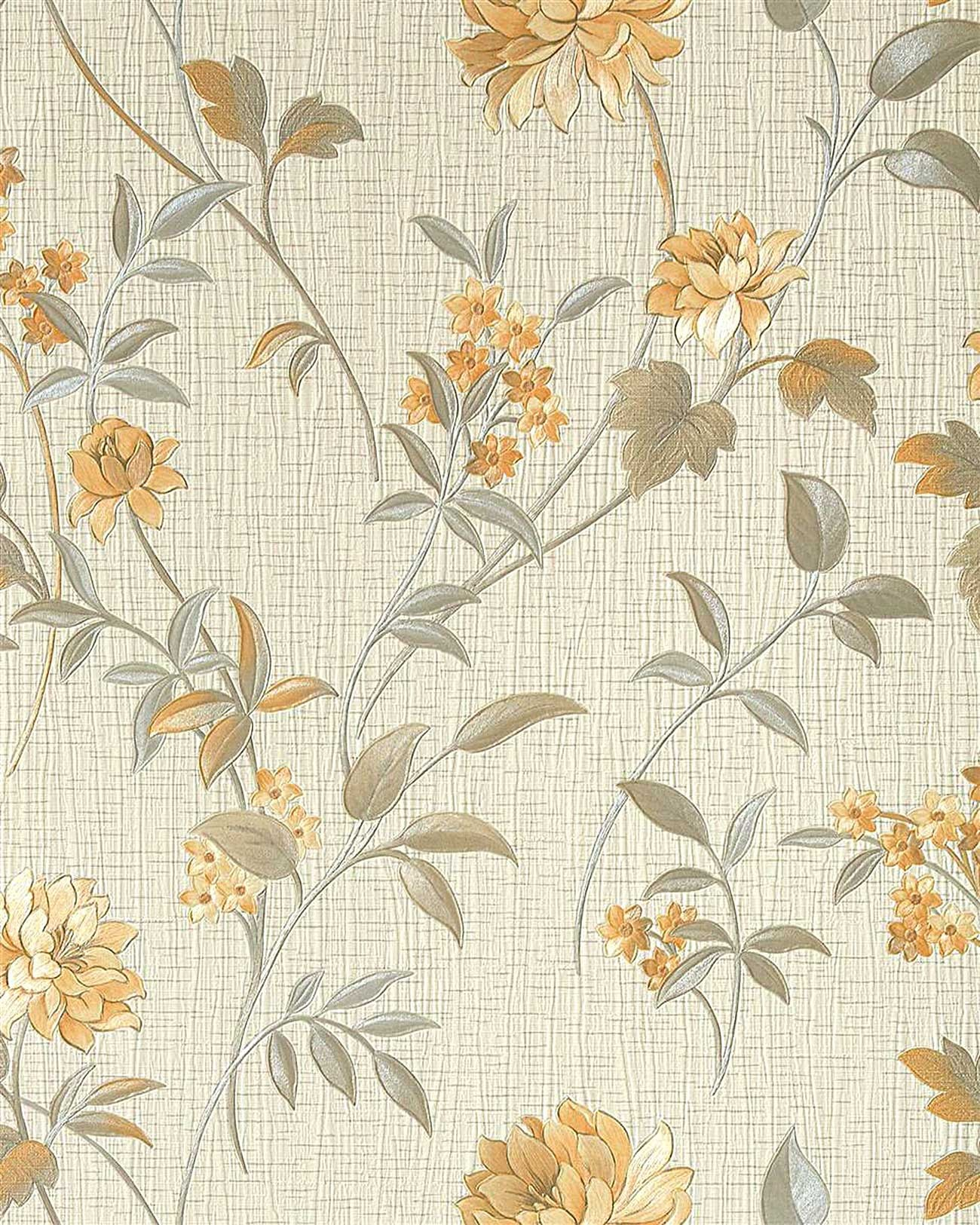 asia tapete edem 751 32 asiatischetapete deluxe asia floral blumentapete beige creme gold gelb. Black Bedroom Furniture Sets. Home Design Ideas