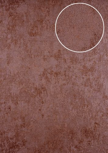 Plaster look wallpaper wall ATLAS HER-5141-5 non-woven wallpaper textured stone look shimmering brown brown red 7.035 m2 (75 ft2) – Bild 1