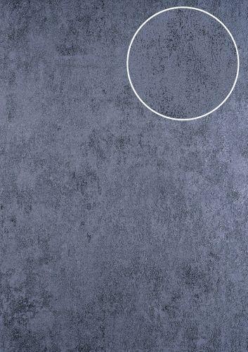 Pleister-look behang ATLAS HER-5141-6 vliesbehang gestructureerd in steen look glanzend groen groengrijs 7,035 m2 – Bild 1