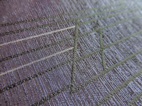 Papier peint à motifs graphiques ATLAS XPL-565-1 papier peint intissé texturé avec un dessin abstrait satiné pourpre violet-pastel violet-nacré rose nacré 5,33 m2 – Bild 2