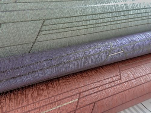 Grafik Tapete ATLAS XPL-565-6 Vliestapete strukturiert mit geometrischen Formen schimmernd grau licht-grau grau-braun silber 5,33 m2 – Bild 3