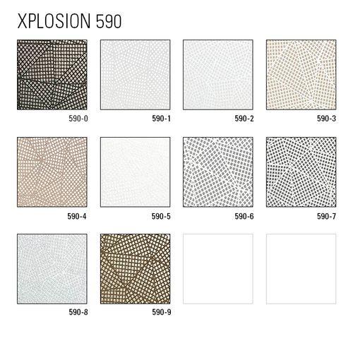 Papier peint à motifs graphiques ATLAS XPL-590-0 papier peint intissé texturé avec des figures géométriques satiné anthracite gris-agate gris gris argent 5,33 m2 – Bild 4
