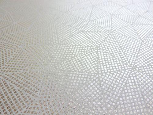 Grafisch behang ATLAS XPL-590-4 vliesbehang gestructureerd met geometrische vormen glinsterend grijs bronzen leembruin beigebruin 5,33 m2 – Bild 2