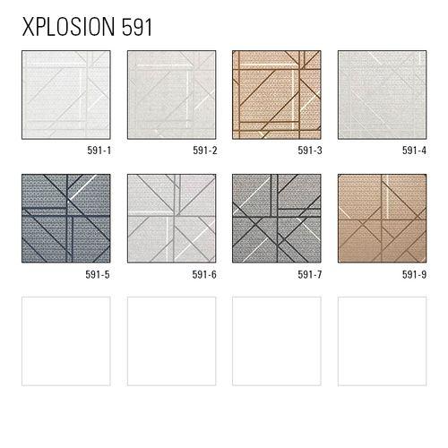 Grafisch behang ATLAS XPL-591-2 vliesbehang gestructureerd met geometrische vormen glanzend crème ivoorkleurig licht ivoorkleurig wit 5,33 m2 – Bild 4
