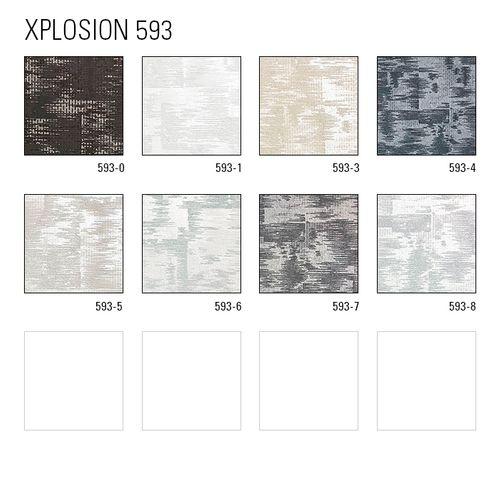 Papier peint à motifs graphiques ATLAS XPL-593-5 papier peint intissé texturé avec un dessin abstrait satiné gris blanc-crème blanc-perlé 5,33 m2 – Bild 5