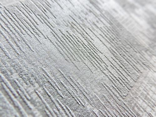 Ton-in-Ton Tapete ATLAS XPL-593-6 Vliestapete strukturiert mit abstraktem Muster schimmernd grau licht-grau silber-grau silber 5,33 m2 – Bild 2