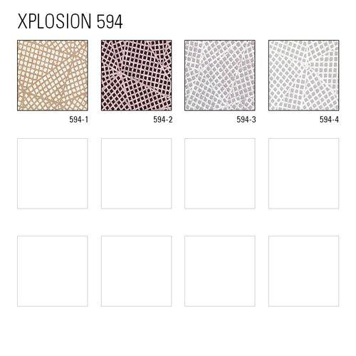 Grafisch behang ATLAS XPL-594-2 vliesbehang gestructureerd met geometrische vormen mat purper parelmoer-donkerviolet pastelviolet 5,33 m2 – Bild 7