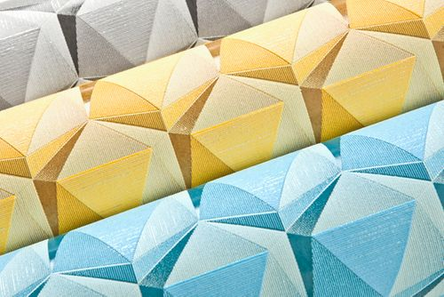 Retro wallpaper wall EDEM 1050-12 vinyl wallpaper slightly textured with geometric shapes subtly glittering cream light blue ocean blue 5.33 m2 (57 ft2) – Bild 5