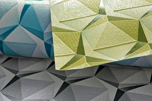 Empapelado estilo retro EDEM 1050-15 papel pintado vinílico ligeramente texturado con figuras geométricas sutilmente brillante beige beige-verdoso verde oliva  5,33 m2 – Imagen 2