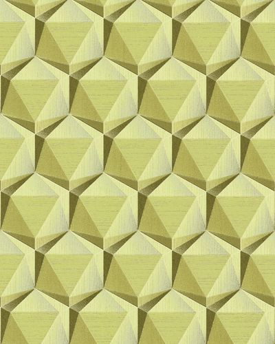 Retro wallpaper wall EDEM 1050-15 vinyl wallpaper slightly textured with geometric shapes subtly glittering beige green beige olive green 5.33 m2 (57 ft2) – Bild 1