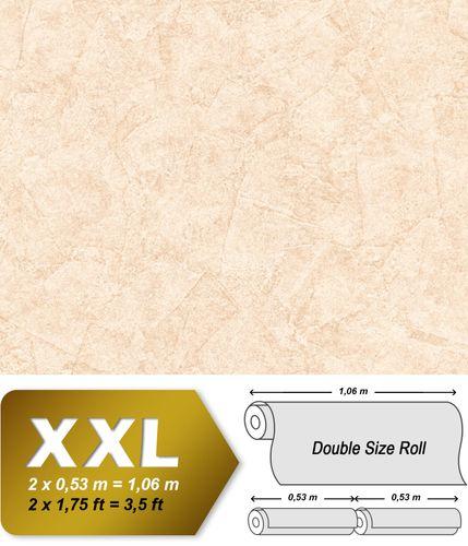 Papier peint aspect crépi EDEM 9077-20 papier peint gaufré à chaud avec dos intissé gaufré au style shabby chic brillant crème blanc ivoire clair 10,65 m2 – Bild 1