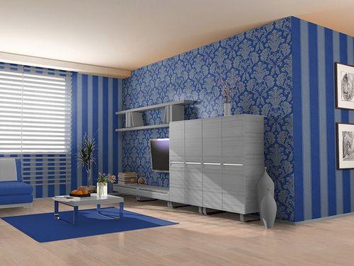 3D Barock-Tapete Vintage EDEM 752-37 Luxus Neo Klassik Tapete Ornament geprägt damask blau platin – Bild 2