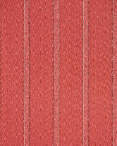 Vinyl stripes wall covering wallpaper EDEM 174-34 red brown-red silver  – Bild 1