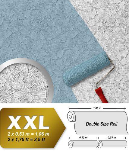 Vliesbehang overschilderbaar EDEM 309-60 behang structuurbehang reliëfbehang XXL-behang wit | 26,50 m2 – Bild 1