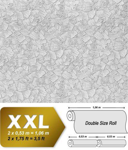 Papel pintado XXL no tejido blanco pintable EDEM 309-60 con textura de estuco espatulado para pintar encima 26,50 m2 – Imagen 2