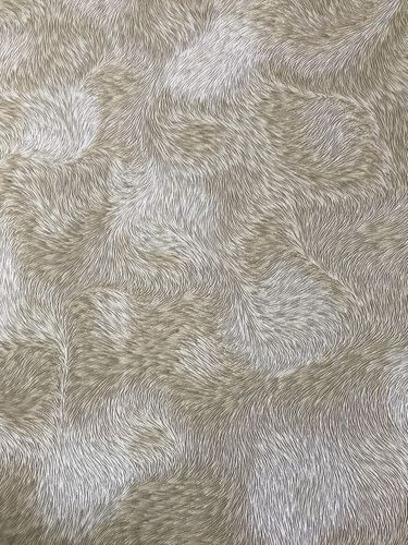Exclusive luxury wallpaper wall Profhome 822301 vinyl wallpaper embossed fur look shiny gray cream beige 5.33 m2 (57 ft2) – Bild 1