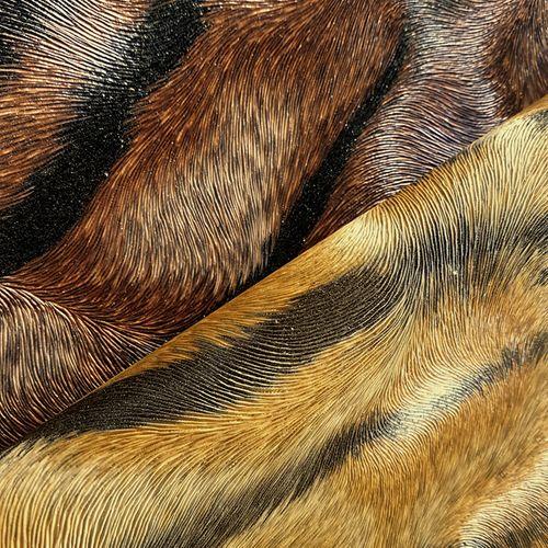 Exklusive Luxus Tapete Profhome 822601 Vinyltapete geprägt mit Tigerstreifen glänzend braun creme-weiß schwarz 5,33 m2 – Bild 3