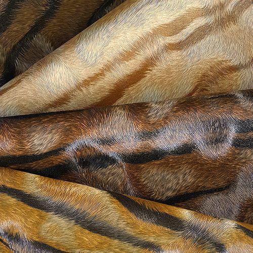 Exklusive Luxus Tapete Profhome 822603 Vinyltapete geprägt mit Tigerstreifen glänzend gelb ocker-gelb creme-weiß schwarz 5,33 m2 – Bild 5